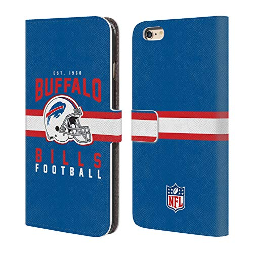 Credit Bills Buffalo Card (Official NFL Helmet Typography 2018/19 Buffalo Bills Leather Book Wallet Case Cover for iPhone 6 Plus/iPhone 6s Plus)