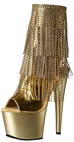Pleaser Adore-1024rsf - Botines Mujer Gold Mettalic Pu-Gold/Gold Matte