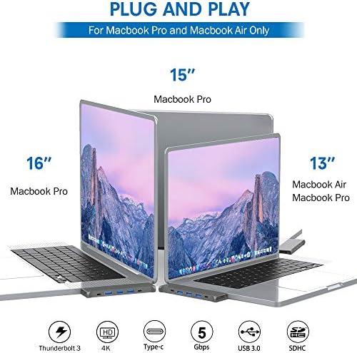 USB C Hub Adapter for MacBook Pro Accessories 2019 2018 16 15 13 Inch JoyGeek 8in1 Type C