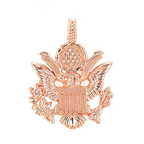 10k Gold Eagle Seal Pendant - United States Great Seal in 10k Rose Gold Pendant