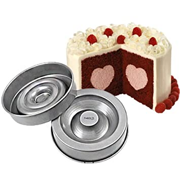 Wilton aromática para pasteles en forma de corazón sabrosas anti-adherente moldes para tartaletas Create relleno de tartas: Amazon.es: Hogar