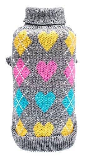 Italian Turtleneck Sweater (Medium Dog Argyle Sweater Cute Winter Pets Clothes)