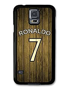 Ronaldo Wood Style Fotball Design case for Samsung Galaxy S5 618C