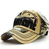 Magosca 100% Cotton Unisex Camouflage Baseball Cap Swag Cap Casual Outdoor Sport Adjustable Snapback Hat for Men Cap Women Breathable and Comfortable Outdoor Sports Travel Sun Hat (Color : Beige)