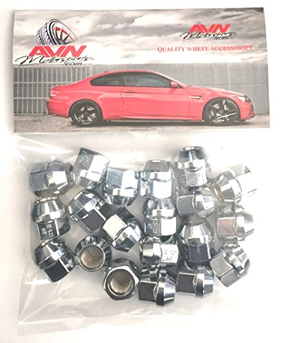 .84 Tall AVN Motorsports 12x1.75 Chrome O.E 16 Bulge Acorn Open End Lug Nuts 3//4 Hex 12mmx1.75 Thread Size