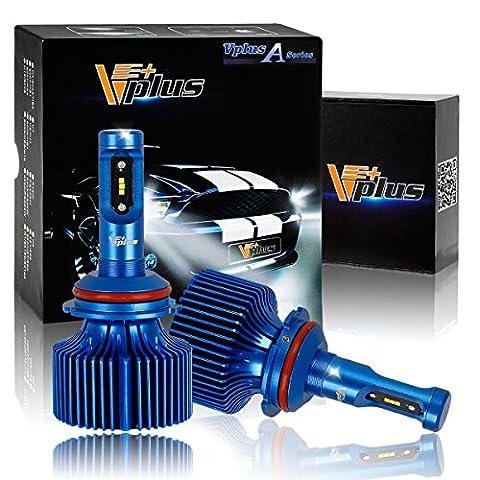 Vplus A Series LED Headlight Bulbs w/ Clear Arc-Beam Kit - 9007 HB5 72W 8,000LM 6500K White Seoul w/ No Fan All in One Headlamp LED Conversion Replace HID & Halogen - 1 Yr Warranty - (2pcs/set)
