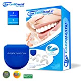 The ConfiDental - Moldable Mouth Guard for Teeth Grinding Clenching Bruxism, Sport Athletic, Whitening Tray, Pack of 5 Including 3 Regular and 2 Heavy Duty Guard (3 (Ill) Regular 2 (ll) Heavy Duty)