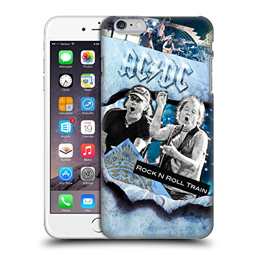 Officiel AC/DC ACDC Rock 'n' Roll Collage Étui Coque D'Arrière Rigide Pour Apple iPhone 6 Plus / 6s Plus