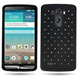 CoverON® for LG G3 Diamond Rhinestone Bling [Aurora Series] Heavy Duty Hard Hybrid Tough Phone Cover Case - (Black / Black)