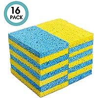 MASTERTOP 16Pcs / Pack Esponja de Celulosa Biodegradable
