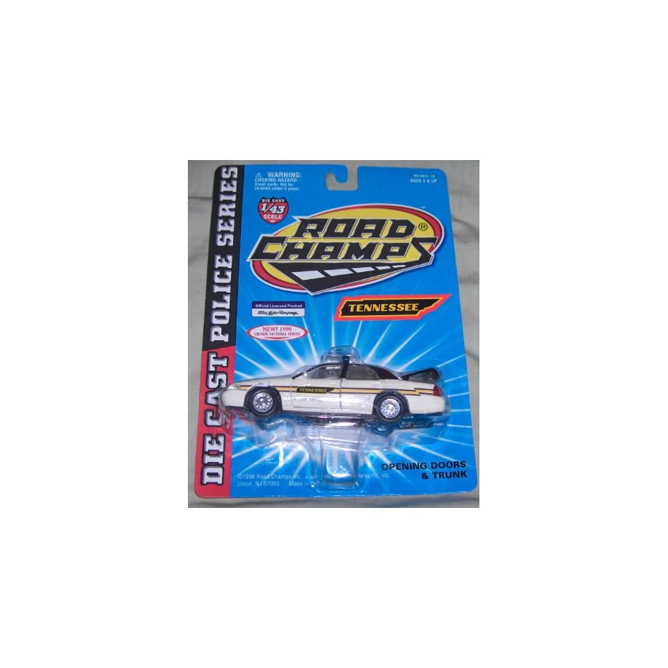 TENNESSEE STATE TROOPER Road Champs 1998 Crown Victoria Police Series Die Cast Car 143 Scale