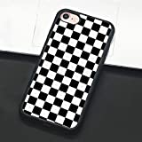 Checkerboard Phone Case for iPhone 11 Pro Max XS Max XR X 8 Plus 7 Plus 8 7 6 6s 5s 5 se Hard Cover Grid Lattice Plaid Tartan Damier House Checkerboard Chessboard Checker Flag (iPhone 7/8,1)