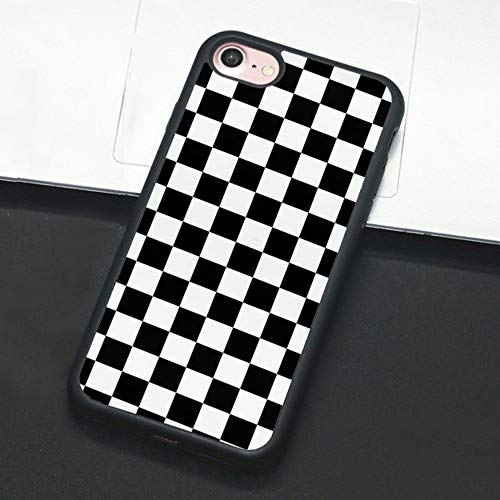Checkerboard Phone Case Compatible with iPhone 11 Pro Max XS XR X 7 8 Plus 6 6s 5 5s Hard Cover Grid Lattice Plaid Tartan Damier Chessboard Checker Flag (Compatible with iPhone X, 5)