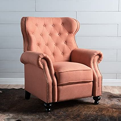 Stupendous Amazon Com Walder Tufted Fabric Recliner Club Chair By Ncnpc Chair Design For Home Ncnpcorg