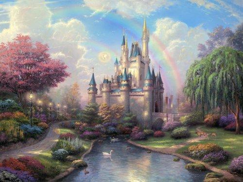Cinderella Castle Disney Painting Art Print Poster