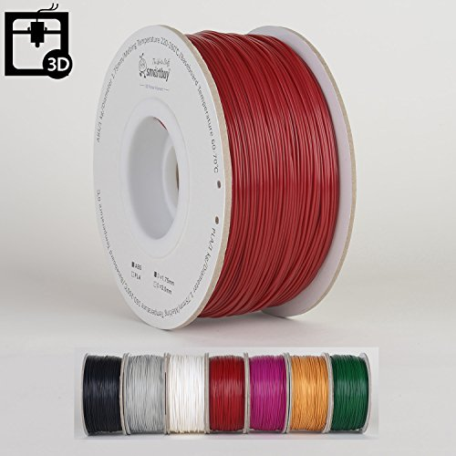 Smartbuy 1.75mm Christmas Red ABS 3D Printer Filament - 1kg Spool/Roll (2.2 lbs) - Dimensional Accuracy +/- - Acryl Rose Red