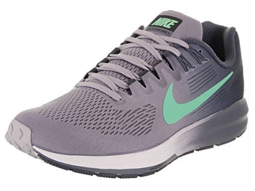 NIKE Women's Air Zoom Structure 21 Provence Purple/Green Glow Running Shoe 9 Women US