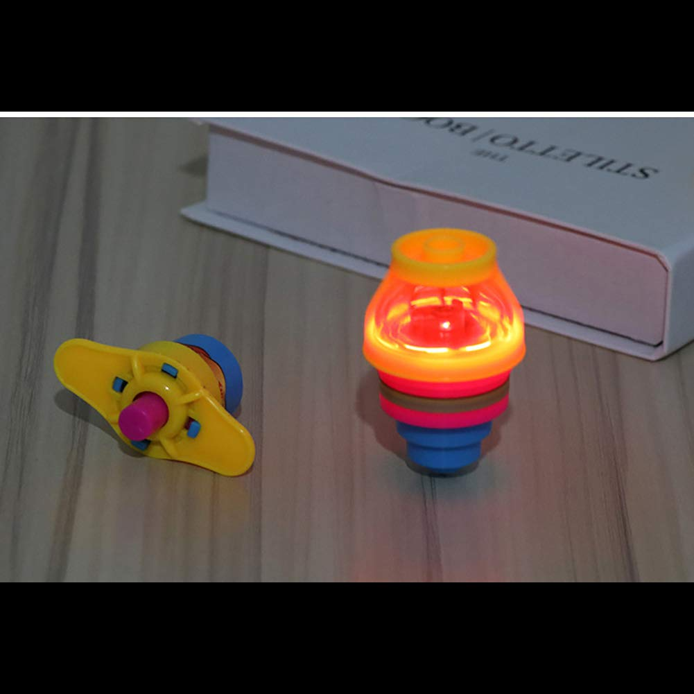 Couleur Al/éatoire Beito 1 pcs Flash Rotation Spinning Gyro Creative Enfants Jouets Color/é Musique Lumineuse Gyro Jouets pour Enfants Cadeaux