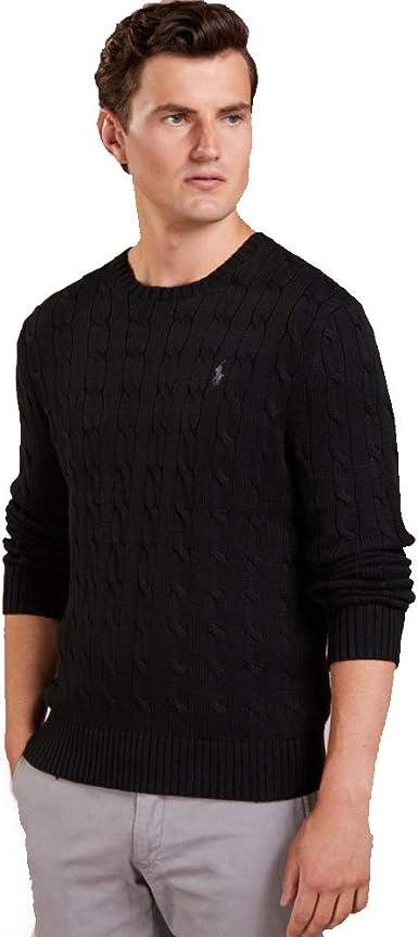 Ralph Lauren Jersey Cable-Knit de algodón: Amazon.es: Ropa y ...
