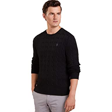 Ralph Lauren Jersey Cable-Knit de algodón: Amazon.es: Ropa y ...