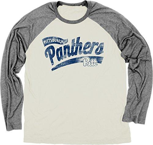 - NCAA Pittsburgh Panthers Men's Dyed Long Sleeve Raglan Sweater, Ivory, X-Large