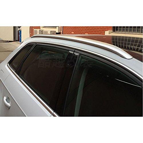Aluminium Alloy Top Roof Rack Rails Side Bars Decoration Trim For Car Accessory ADA3