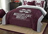 The Northwest Company Officially Licensed NCAA Mississippi State Bulldogs Modern Take Full/Queen Comforter and 2 Sham Set