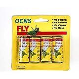 Sticky Fly Ribbons,Fly Catcher Ribbon,Fly Paper Ribbon,Fly Paper Strips,Super Value 4-Rolls