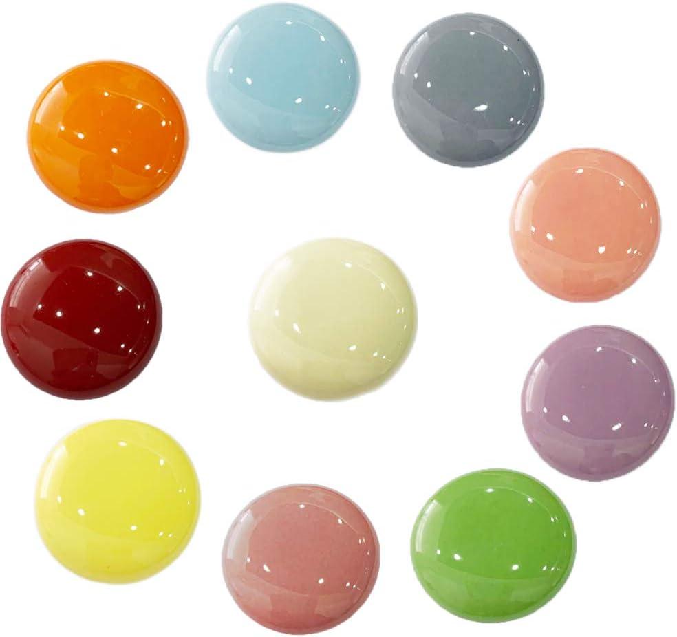 OctinPris 10x Colorful Door Knob Cabinet Retro Round Ceramic Drawer Cupboard Kitchen Dresser Pull Handle Knobs 32mm/1.25