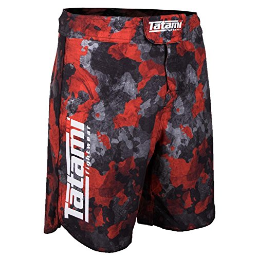 TATAMI Fightwear Men's Renegade Red Camo MMA BJJ Fight Shorts (Large)