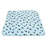 Pet blanket - SODIAL(R) Pet blanket fleece blanket dog blanket animal blanket cat pet blanket 60x70cm (Light Blue)