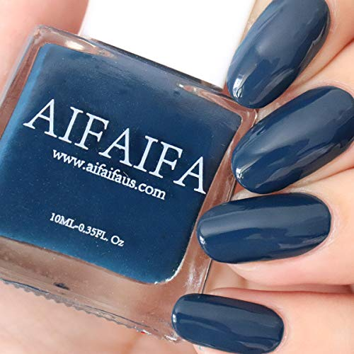 AIFAIFA Blue Nail Polish, Long-Lasting Winter Nail Polish, Dress Call, Navy Blue Nail Polish, 0.4 Fl Oz