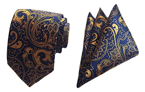 Blue Gold Necktie - 3