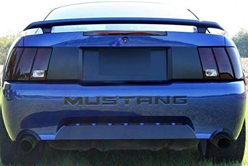 1999 2000 2001 2002 2003 2004 Subject 9 Dark Fits: Mustang Pre-Cut Vinyl Overlay Taillight Plus Tint with Reverse Cut Out