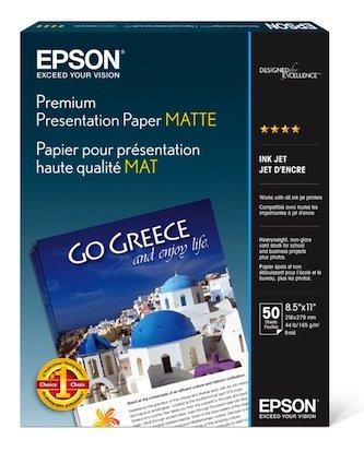 R2880 Matte - Epson Paper, S041257, Matte, White Letter - 8.50