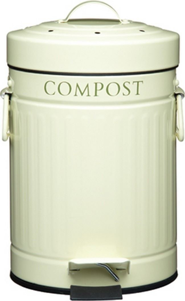 Kitchen Craft Compost Pedal Bin with Charcoal Filter 3 Litres