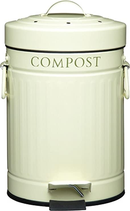 amazon com kitchen craft compost pedal bin with charcoal filter 3