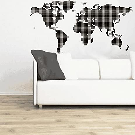 Amazon ws00252 its a bright world led style world map sky ws00252 its a bright world led style world map sky blue vinyl graphic wall decal gumiabroncs Images