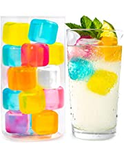 Efiwasi - Reusable Ice Cubes For Drinks - Chills Drinks Without Diluting Them - Made From BPA Free Plastic - Refreezable, Washable, Quick And Easy To Use - Pack Of 30 With Storage Container