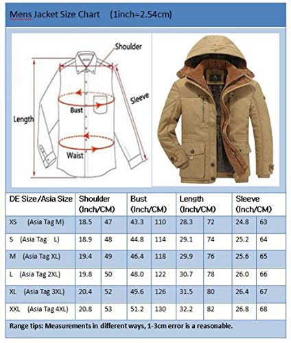 Thickened Fur Men Fur Winter Winter Hood Winter Coat Parka Khaki Apparel Winter with Parka Jacket with Mens Huixin Warm Jacket Coat 8wvqvf
