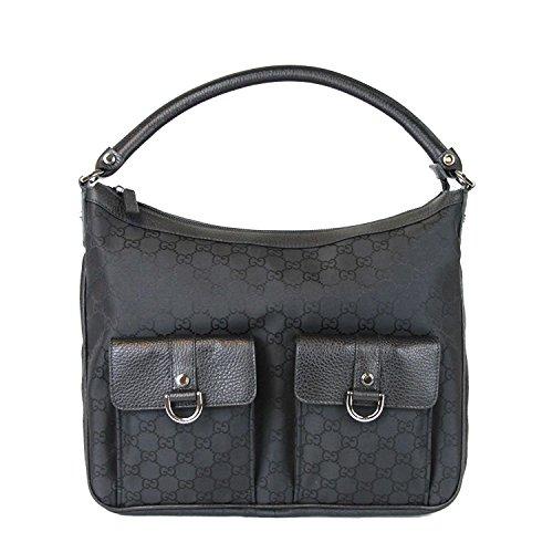 Gucci Black Abbey Hobo Nylon Purse Handbag 293581 (Gucci Hobo Purse)