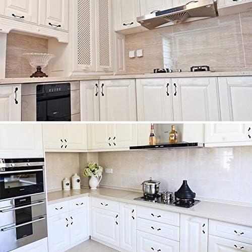 Lijing Cabinet Handle 20 PCS 5077 White Ceramic Closet Cabinet Handle