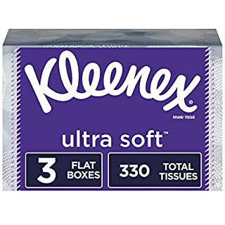 Kleenex Ultra Soft Facial Tissues, 3 Rectangular Tissue Boxes, 110 Tissues per Box (330 Tissues Total)