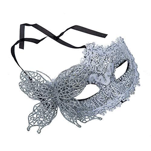 Venetian Masquerade - Sexy Women Lace Mask Venetian Masquerade Ball Party Carnival Face Eye Silver - Stencil Black Hood Gloves Headband Elastic Women Ball Open Silver Gold Mold Sexy Pink