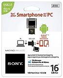 Sony 16GB Microvault USB Flash Drive for Smartphone (USM16SA1/B)