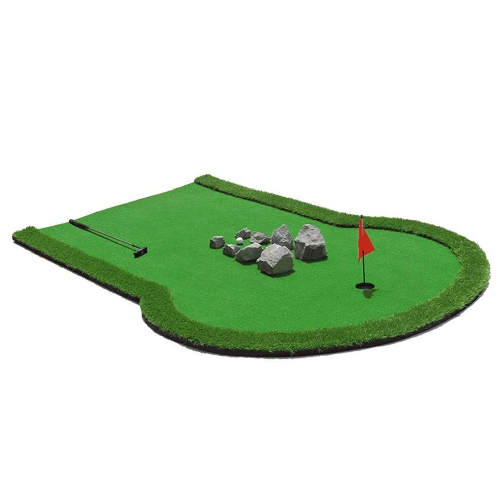 パット練習器具 ゴルフパッティングマット来てゴルフボールでミニゴルフ練習トレーニングエイドポータブルマットゲームと家庭用、オフィス用、屋外用ギフト (色 : 緑, サイズ : 2*3m) B07SN4QVGP 緑 2*3m
