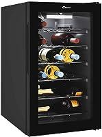 Candy Vinoteca CWC021M - 21 Botellas - Baldas cromadas - Display electrónico - Iluminación interna LED - Color Negro