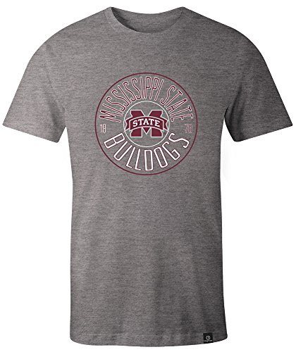 (NCAA Mississippi State Bulldogs Adult NCAA Circles Image One Everyday Short sleeve T-Shirt, X-Large,HeatherGrey)
