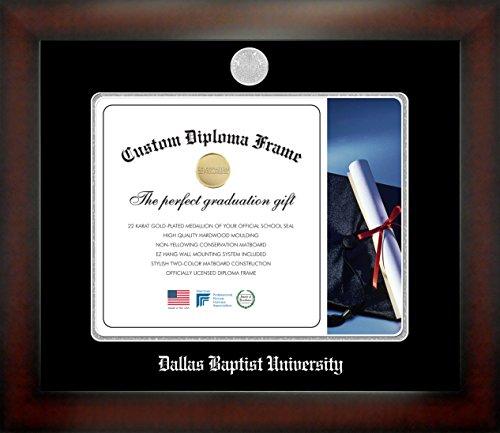 Dallas Baptist University 11 x 14 Mahogany Finish Infinity Diploma Frame by Celebration Frames by Celebration Frames