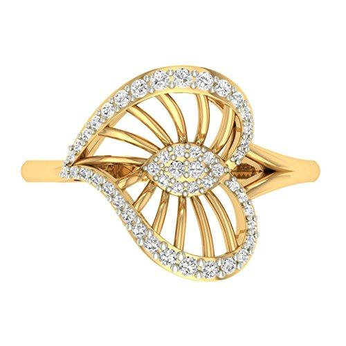 Or jaune 18K 0,27CT TW Round-cut-diamond (IJ | SI) en diamant